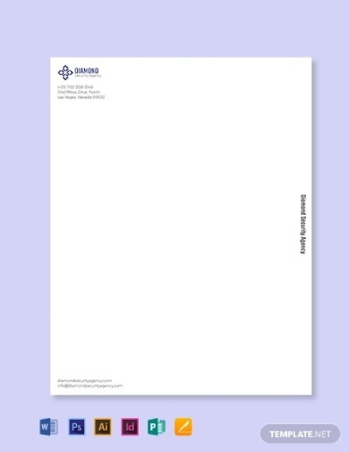 security company letterhead