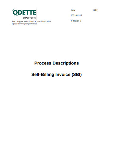 self billing invoice