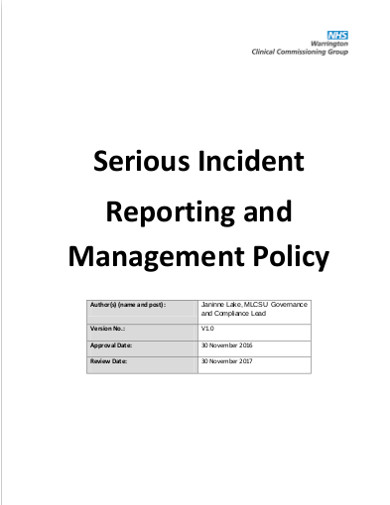 free 12  incident policy examples  u0026 templates  download