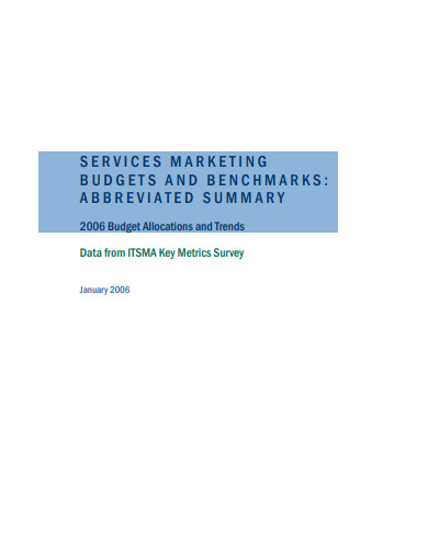 service marketing budget benchmarks