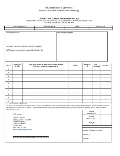 service proforma invoice 1