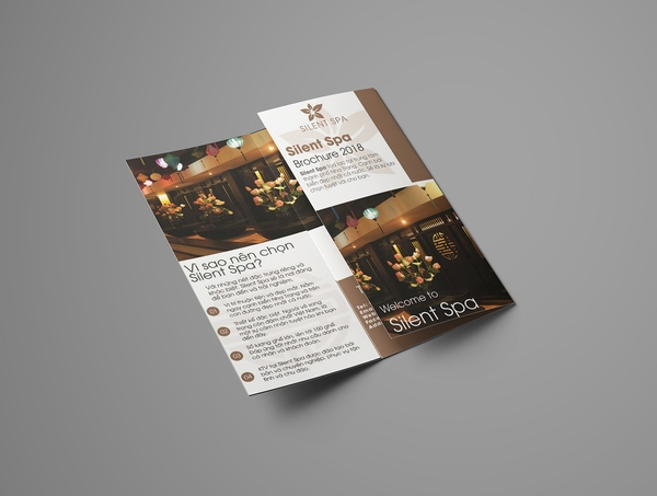 silent spa trifold brochure