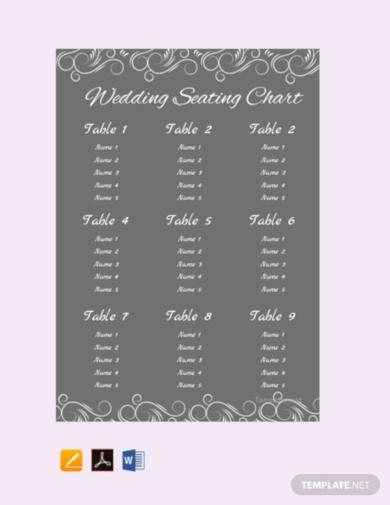 simple chalkboard wedding seating chart