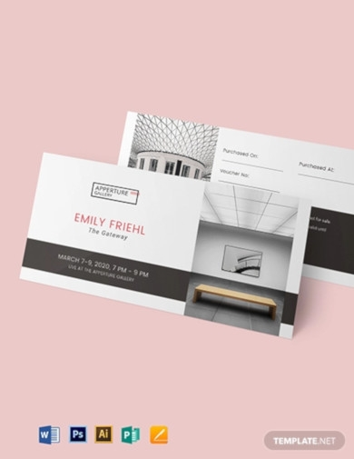 simple event ticket voucher template
