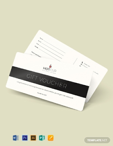simple gift voucher template