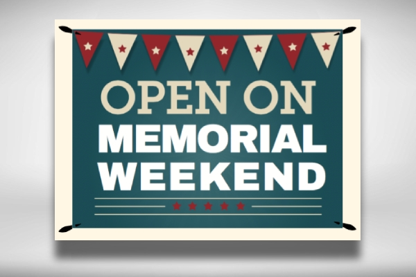 simple memorial day announcement banner