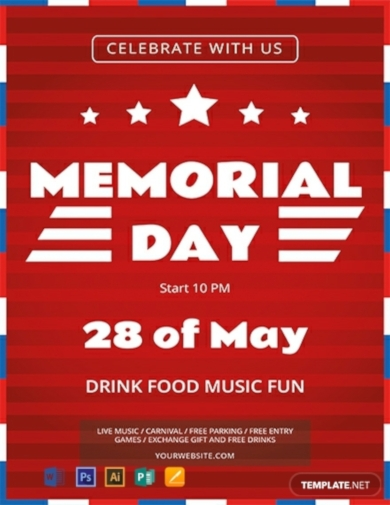 simple memorial day flyer