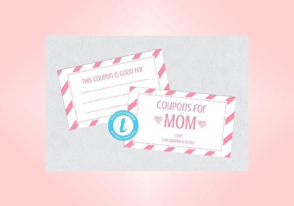 simple mothers day coupon