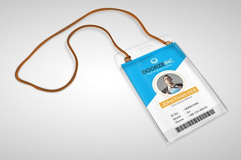 simple office id card