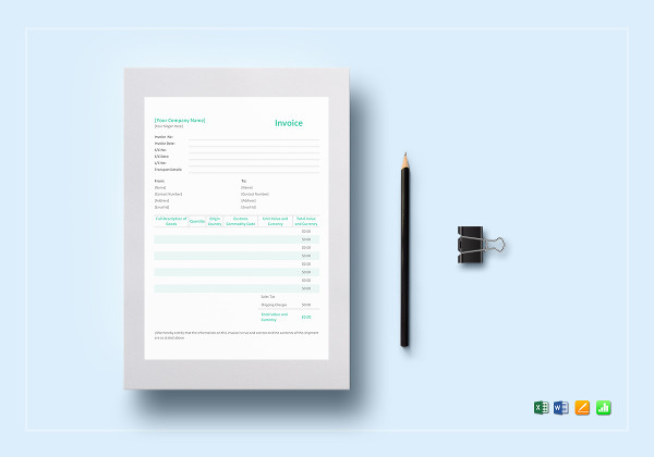 simple proforma invoice template