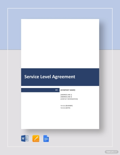 simple service level agreement