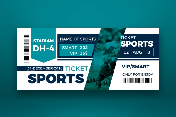 simple sporting event ticket