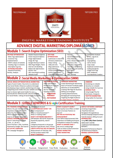 social media swot analysis of digital marketing training