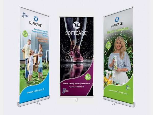 softcare roll up banner