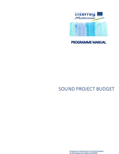 sound project budget