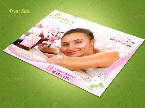spa marketing postcard template1