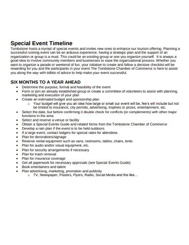 special event marketing timeline