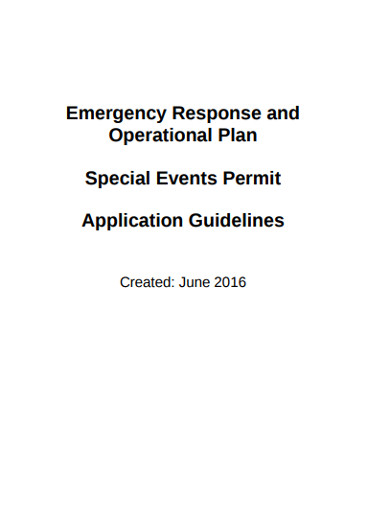 special event operations plan