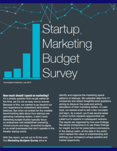 startup marketing budget survey