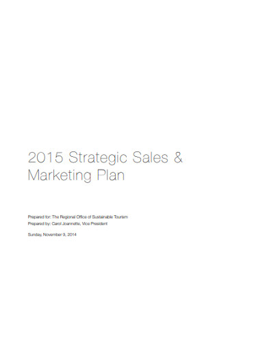 strategic sales marketing plan