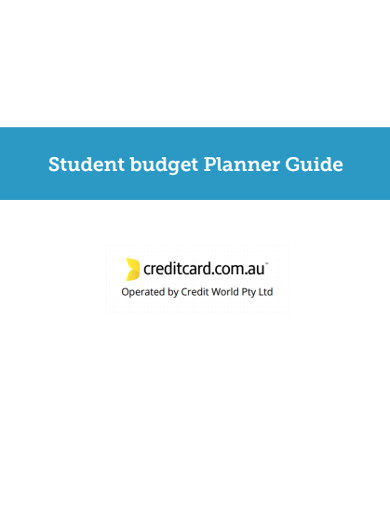 student budget planner guide