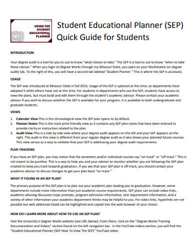 student educational planner