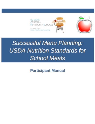 successful menu planner