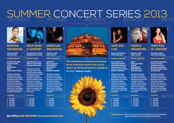 summer events brochure