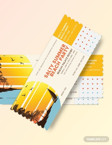 summer party event ticket download
