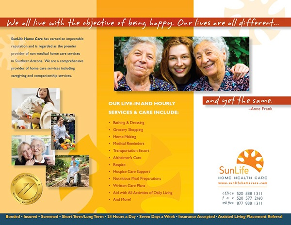 sun life home care trifold brochure