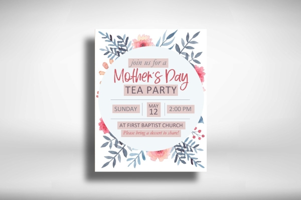 tea party mothers day poster