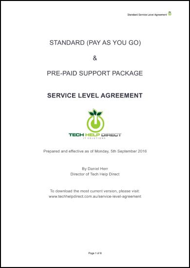 tech help direct service level agreement