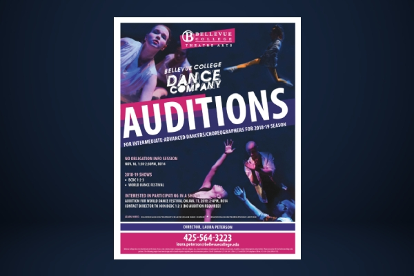 theatre dance auditions flyer