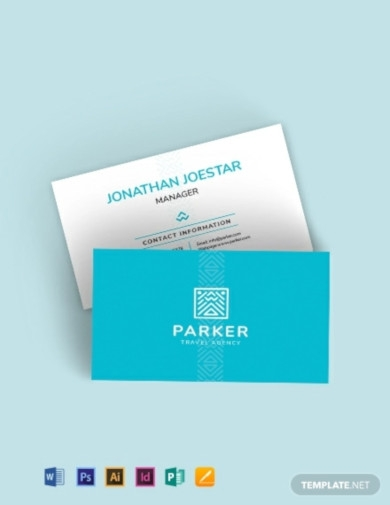 travel agency business card template1