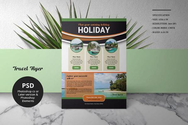 travel agency promotion flyer