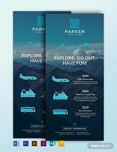 travel agency rack card template