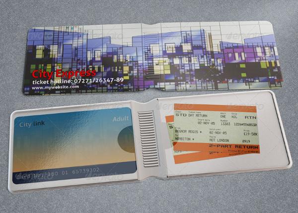 travel card wallet mock up