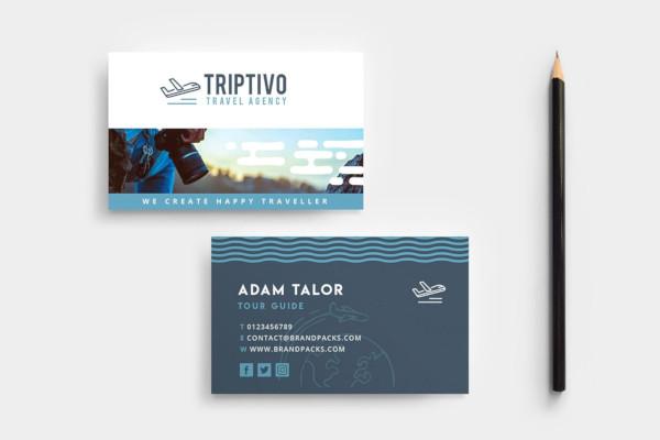 travel company business card design