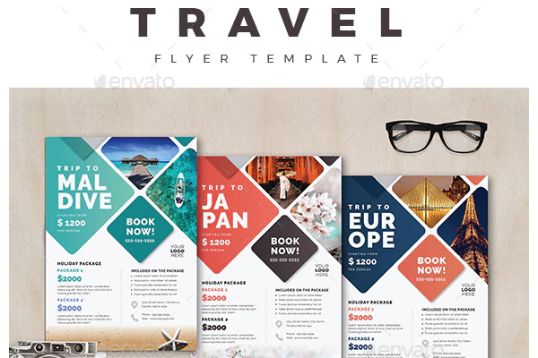 travel flyer simple