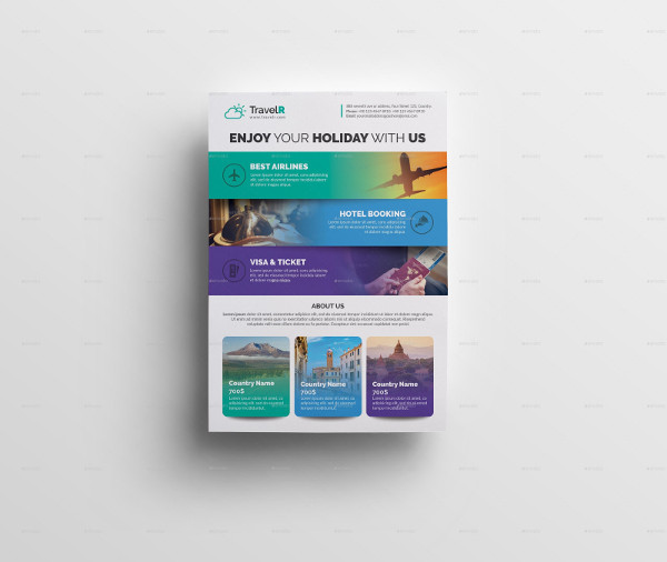 travel flyer in psd