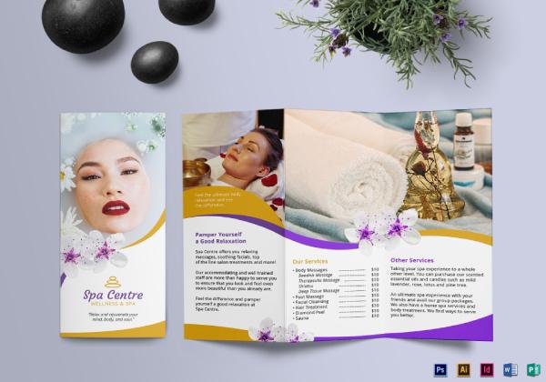tri fold brochure floral