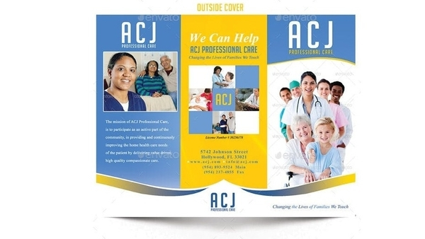 trifold brochure for home health