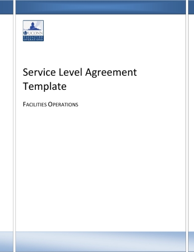 uconn service level agreement template