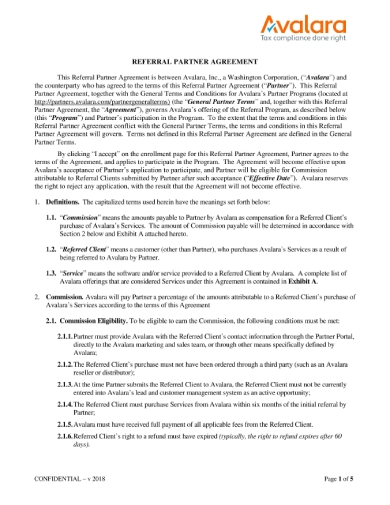 us referral agreement