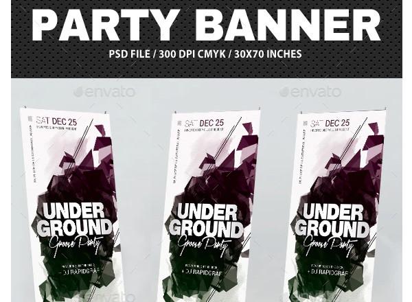 underground party event banner