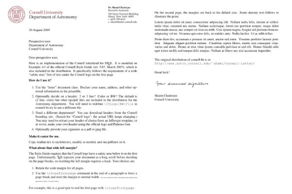 university letterhead