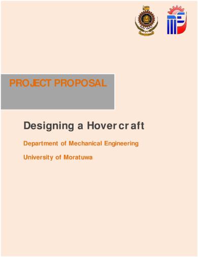 university of moratuwa mechanical engineering project proposal sample
