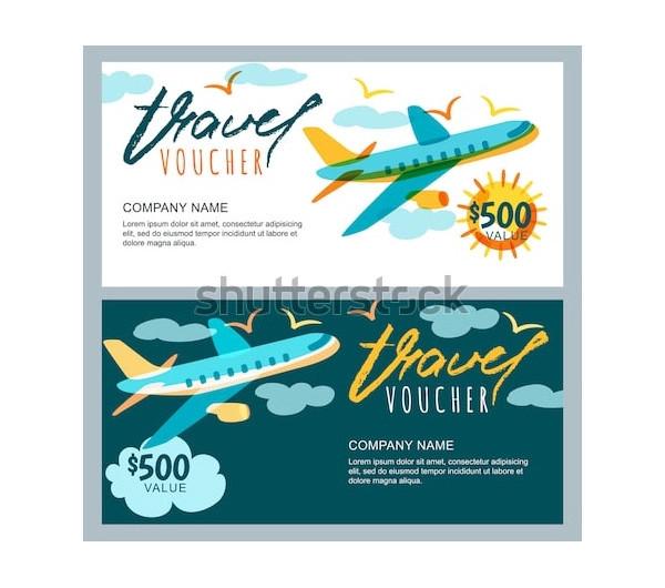 vector gift travel voucher2