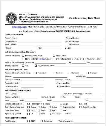 vehicle data format