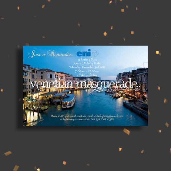 venetian masquerade ball invitation